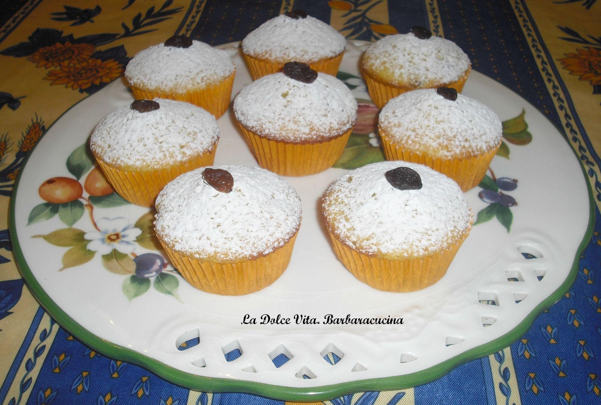 Muffins con uvetta, sofficissimi