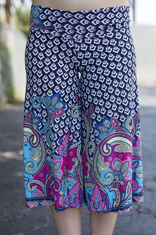 Chains & Berry Gaucho Short Pant #love - JC's Boutique - www.SHOPJCB.com
