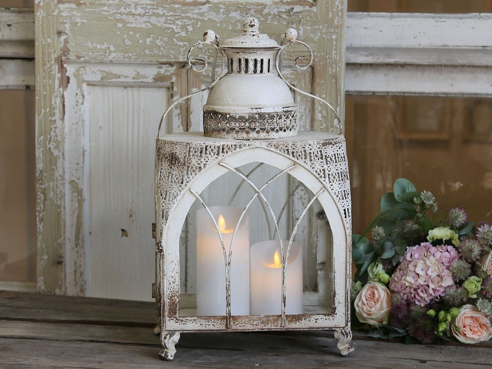 Chic Antique Laterne Kirche Windlicht Shabby Vintage ...