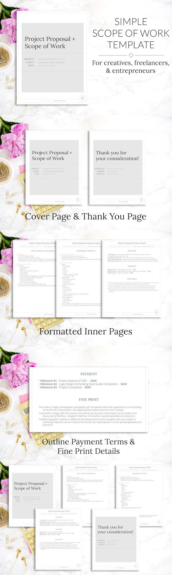 brochure outline template