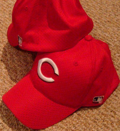 3481816aae5 MLB Flex FITTED Sm Med Cincinnati REDS Home RED Hat Cap Mesh by Team ...