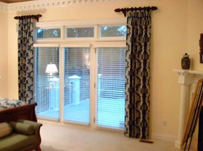 side panel curtain rods  Blinds in 2019  Curtains Short