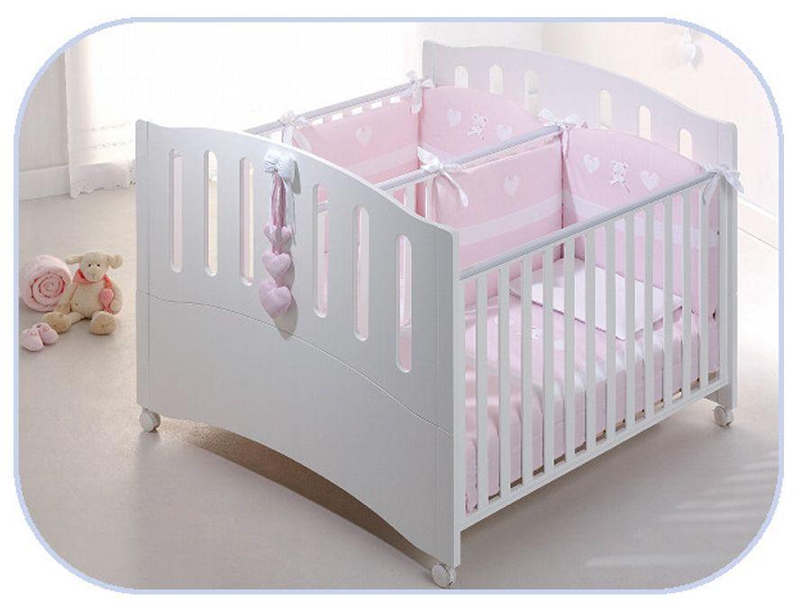 Zwillingsbett - Kinderbett für Zwillinge Gemini Azzurra Design ...