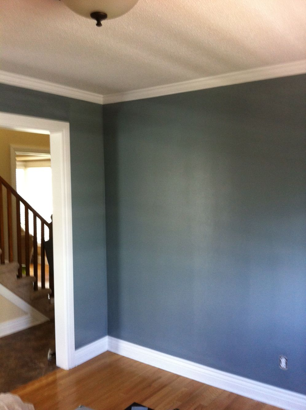 Behr atmospheric 2 coats in eggshell for dining room ️