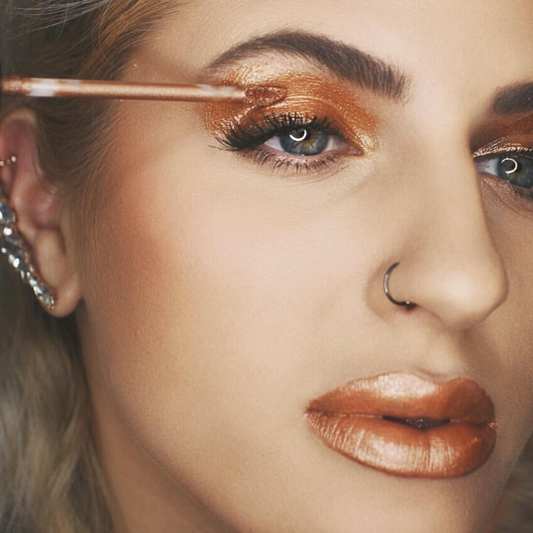 High up nose piercing  Bronze eye make up Kylie Cosmetics  A Bleach Life Hair u Beauty