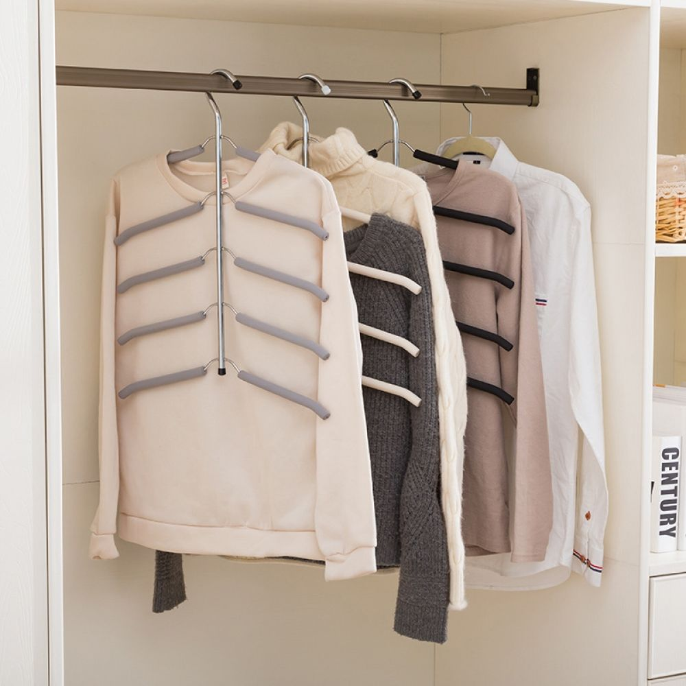 Multilayer Clothing Storage Hanger For Wardrobe With Images