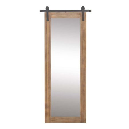 70 inch mirror bathroom vanity decmode farmhouse 70 32 inch rectangular wooden framed wall mirror with iron brackets brown