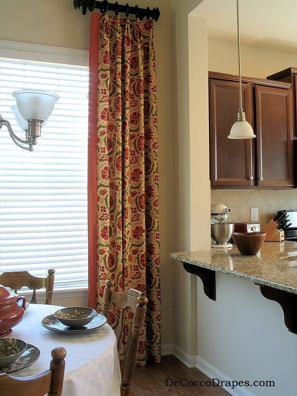 Red Kitchen Curtains, Buy Custom Kitchen Curtains Www.decoccodrapes.com  Custom Made Window