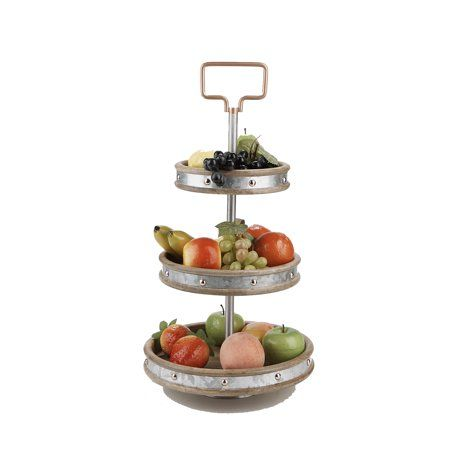 Mind Reader 3 Tier Stand Party Pastry Display Cupcake Stand Holder Tree Tower Display Stand Tiered Serving Dessert Display Tray Silver Pastry Display Tiered Stand 3 Tier Stand
