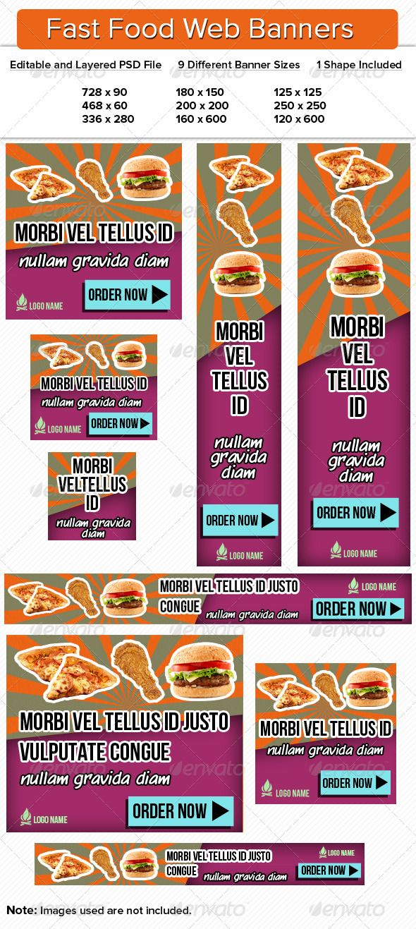 fast food web banners premium web banners ad pinterest web banners banner template and fonts