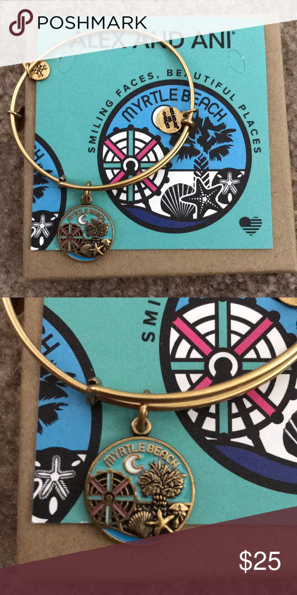 Nwot Alex And Ani Exclusive Myrtle Beach Bangle