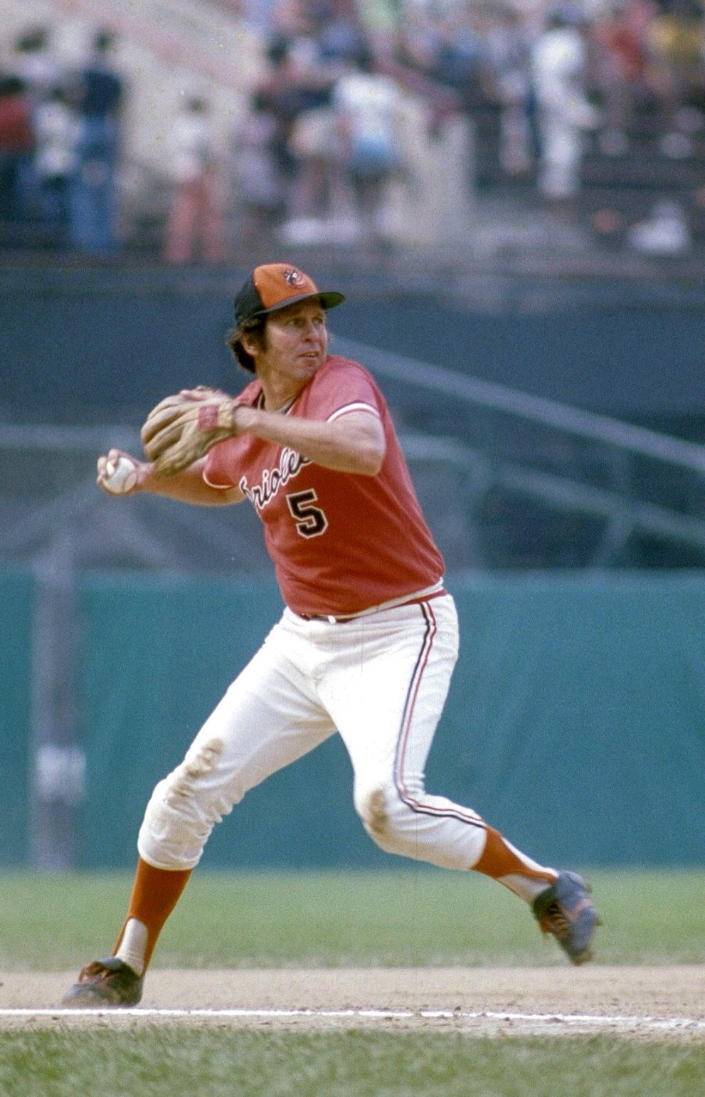 BROOKS ROBINSON ORIOLES THIRD BASE LEGEND MAKES ANOTHER GREAT PLAY 8X10