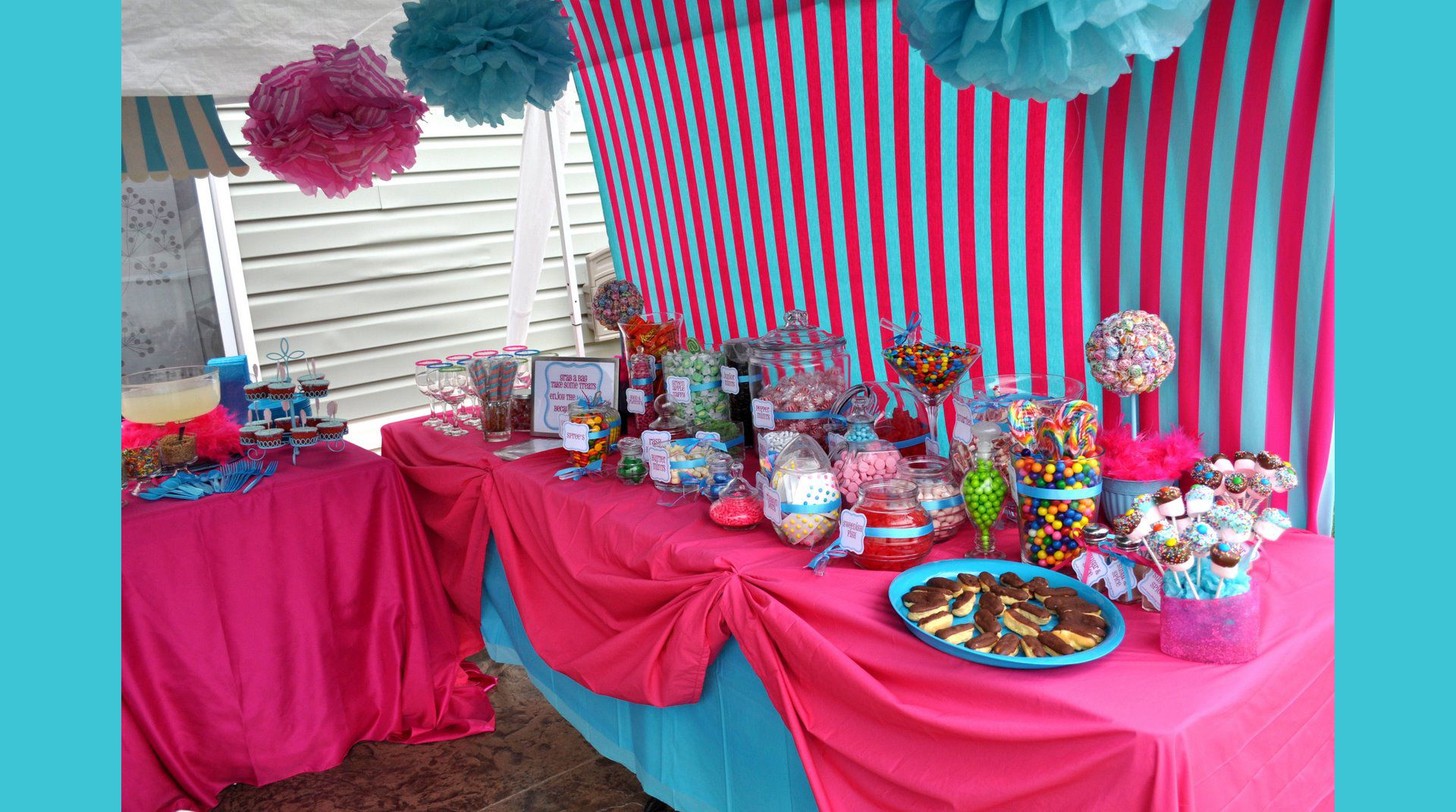 Candy buffet ideas for sweet sixteen - Candybuffet For The Candy Land Party