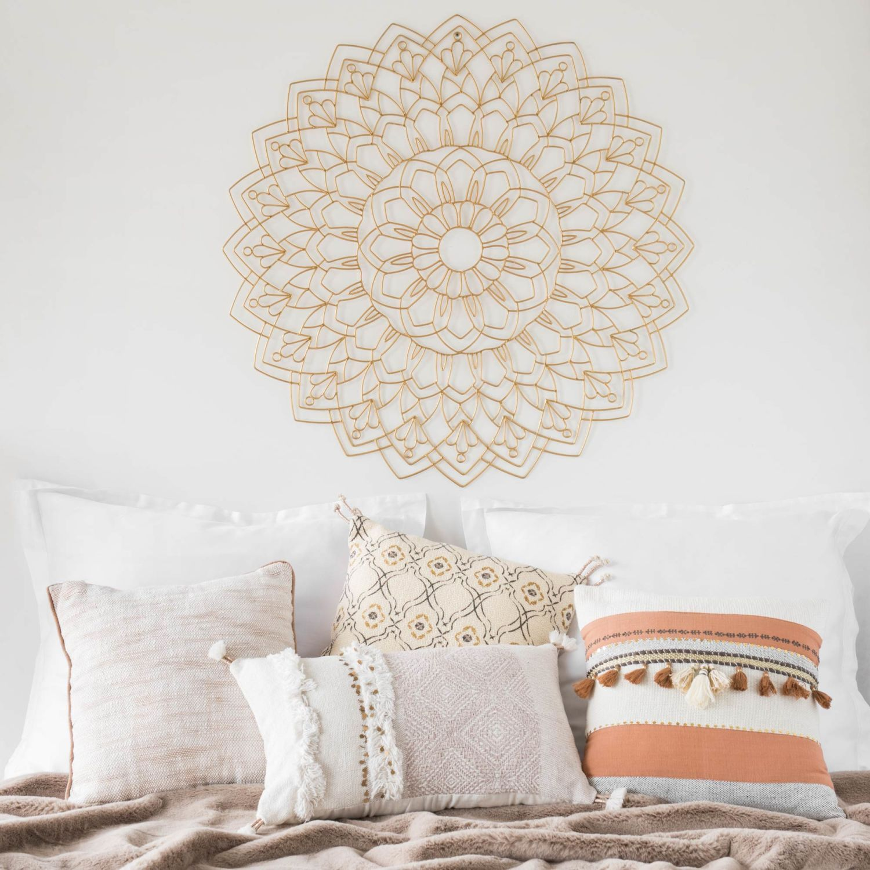 Déco murale mandala en fil de métal doré D16 (met afbeeldingen