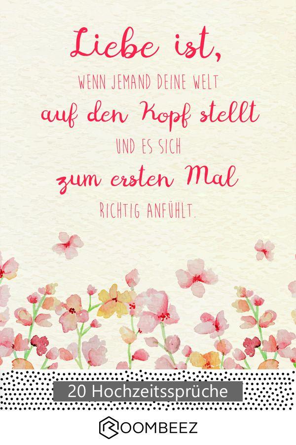 #hochzeit #spruch #karte Auf ROOMBEEZ könnt ihr euch ❤ kostenlos ❤ süße Hochzeits-Grußkarten herunterladen!
