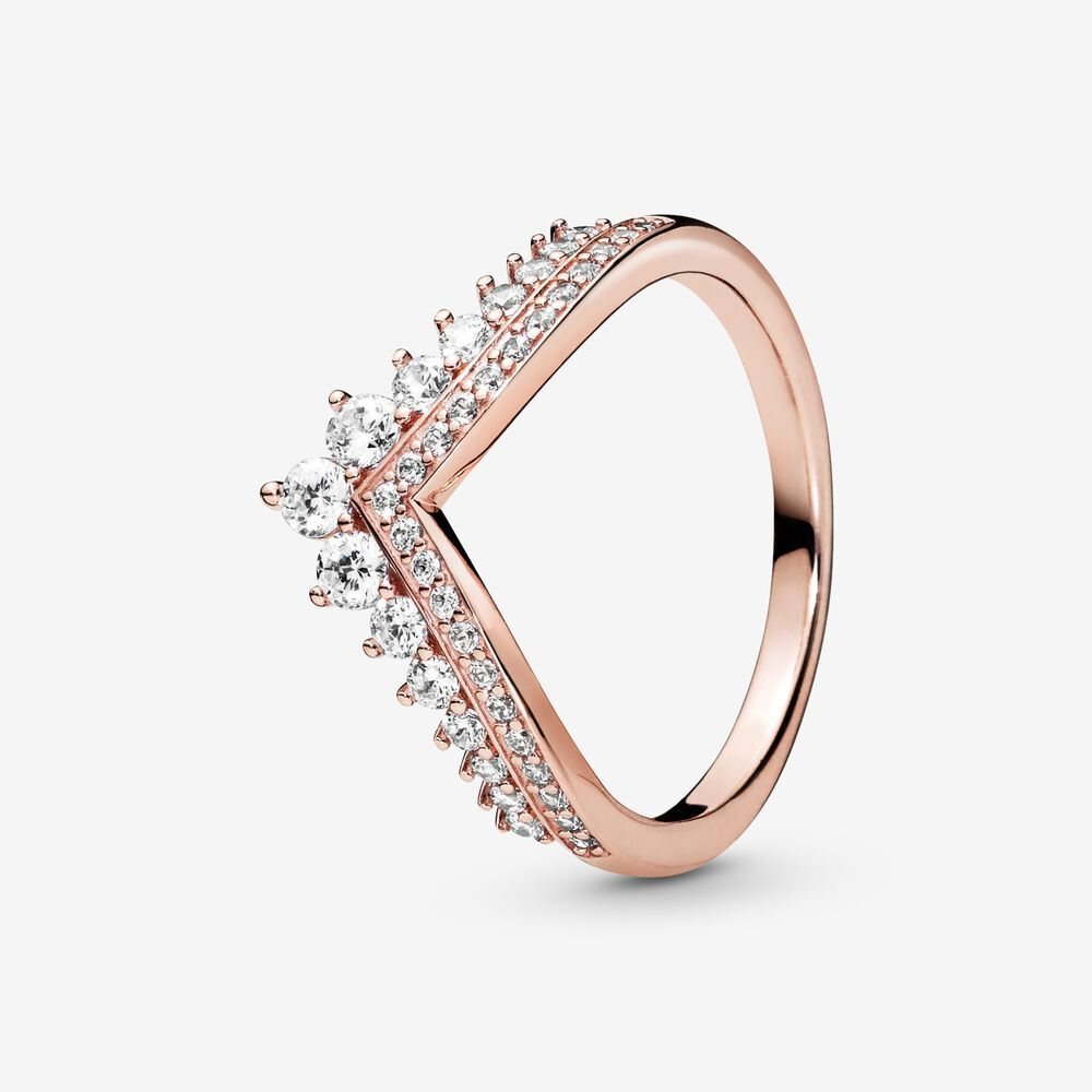 Princess Wishbone Ring | Pandora GB | Bague, Bagues pandora ...