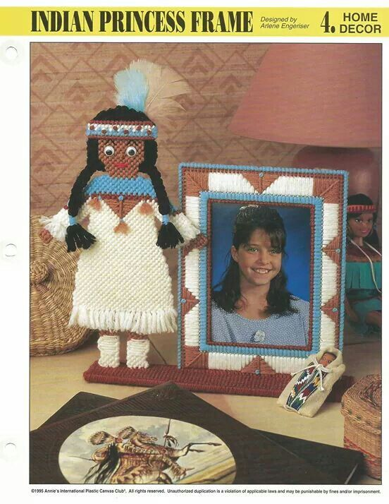 Plastic Canvas Indian Princess Picture Frame 1/3 | Projects to Try ...