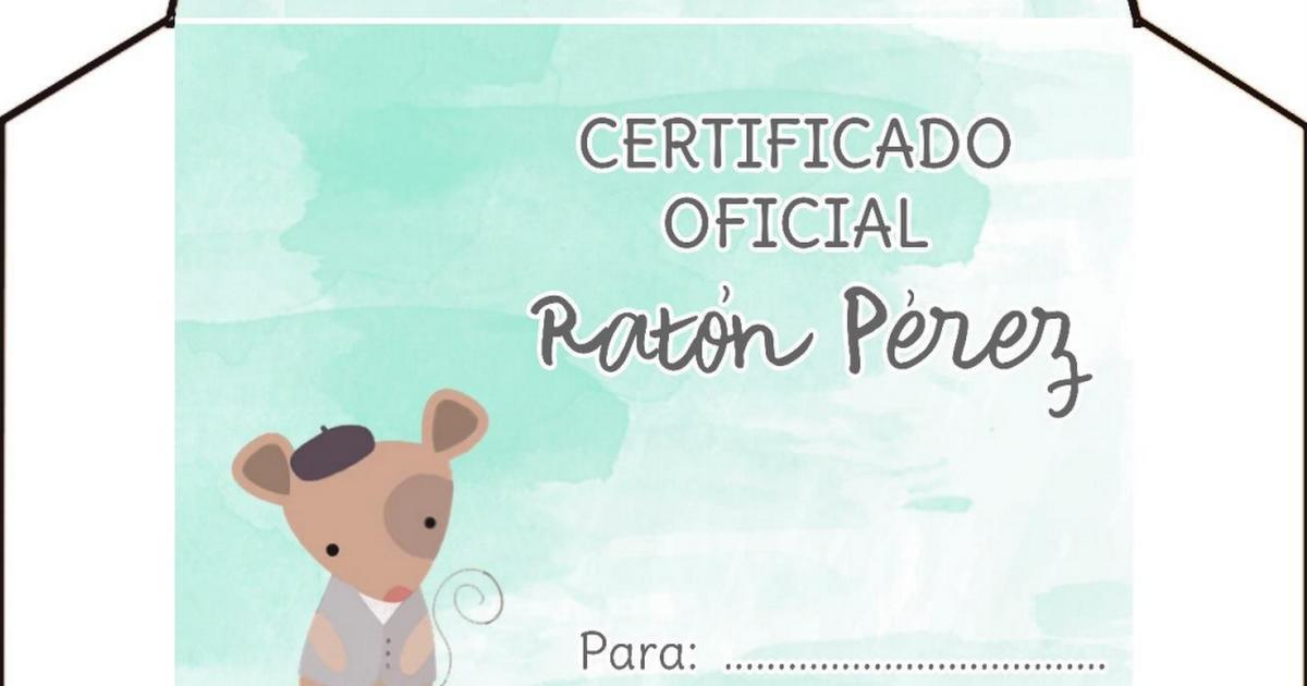 Imprímelo gratis Sobre Ratón Pérez - OyoOllo.pdf | Ratoncito Pérez ...