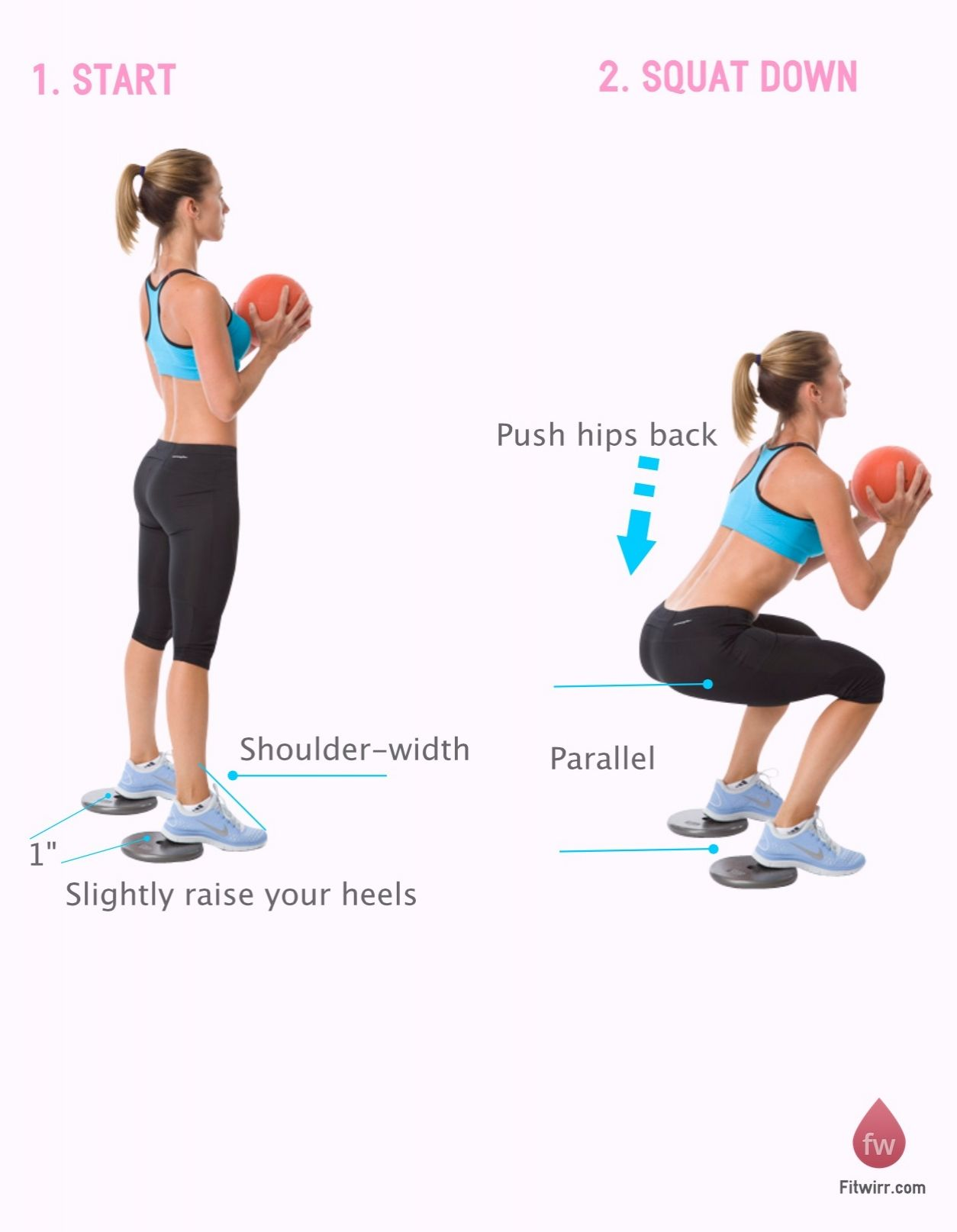 Medicine Ball Squat Thrusters | {Health&Fitness} | Dumbbell squat