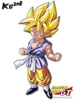 Son Goku Gt Kid Form Super Saiyajin By Krizeii Channel