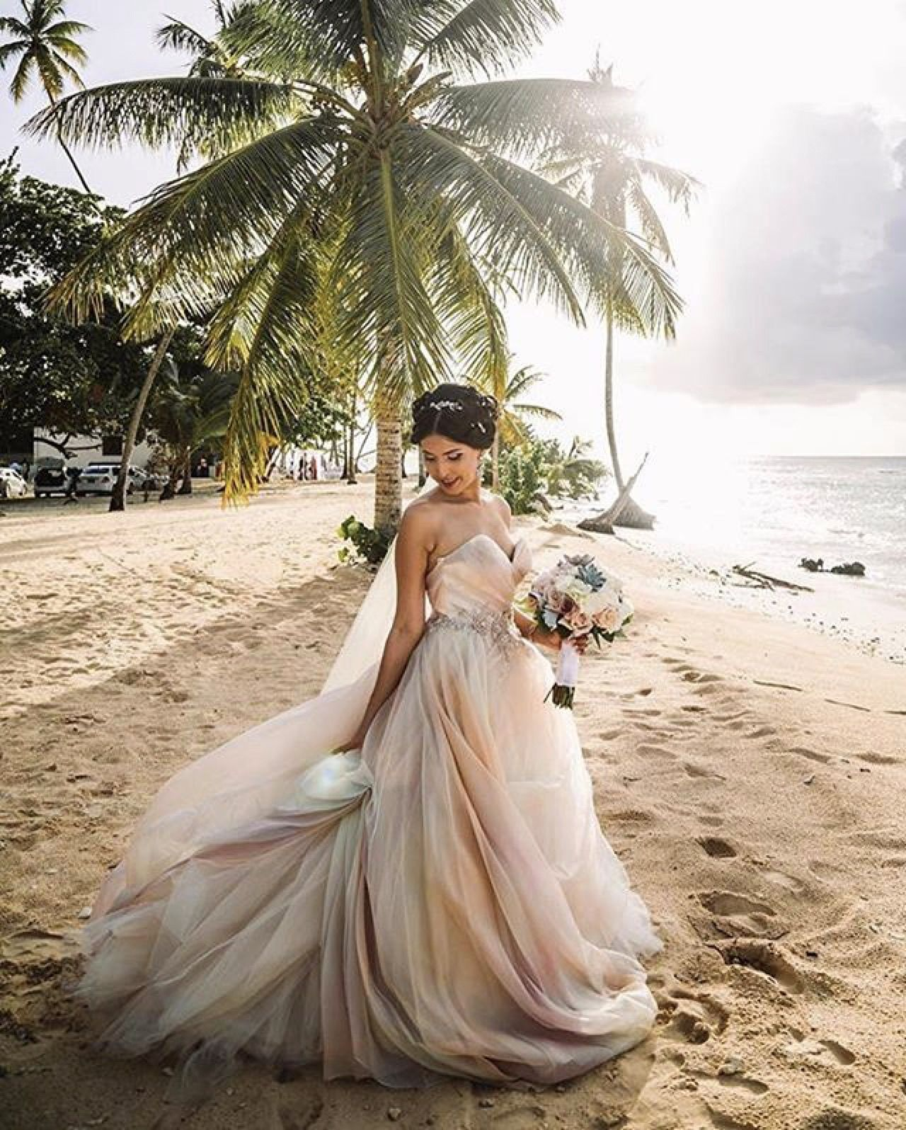 Blush Lazaro Wedding Gown: Lazaro Ombré Wedding Gown Style 3561