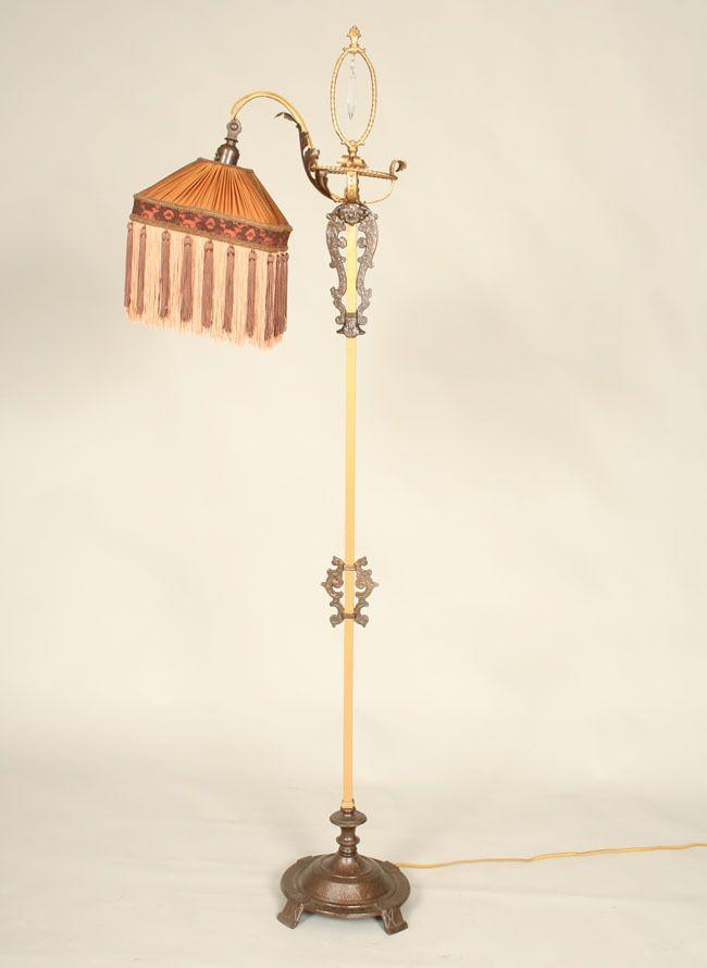 Vintage Bridge Italian Floor Lamp C 1920 Floor Lamp Lamp Italian Floor Lamp
