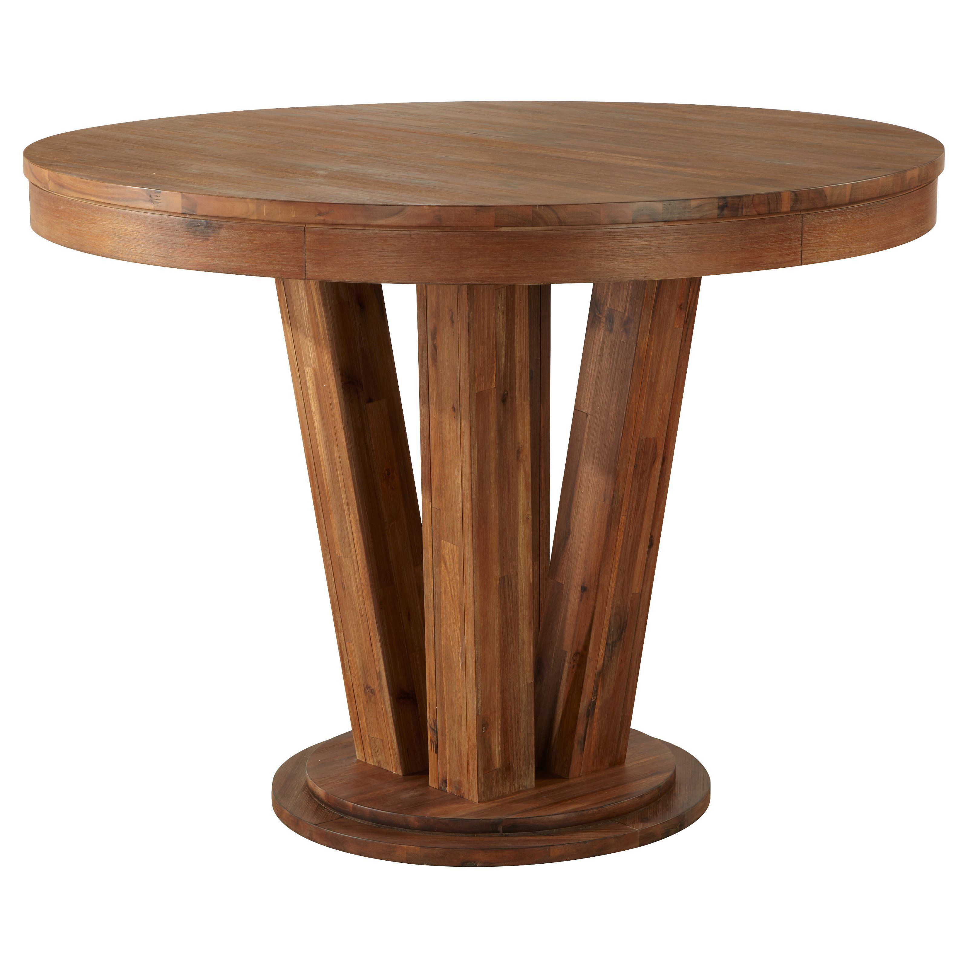 Cresent Fine Furniture Waverly Gathering Dining Table From Hayneedle Com Round Wood Dining Table Dining Table In Kitchen Gathering Table