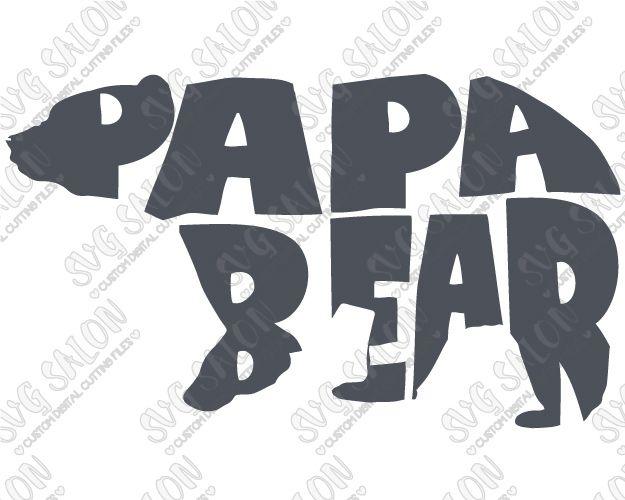 Papa Bear Custom DIY Iron On Vinyl Shirt Decal Cutting File In SVG - Custom vinyl decals decals for shirts