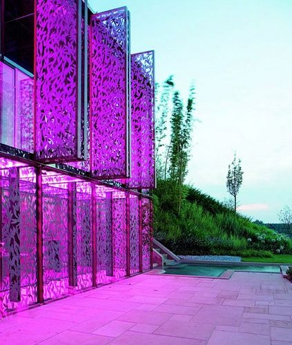 Color Changing House, Italy, by Italo Rota was designed for fashion designer Roberto Cavalli so he could change the colors depending on his mood.