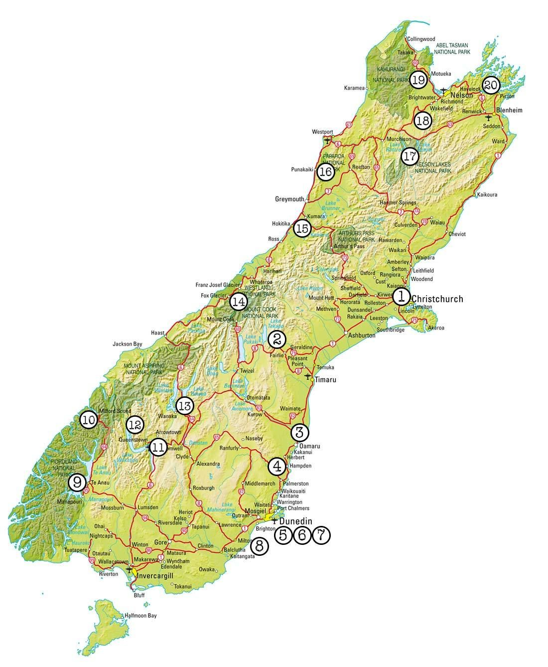 Printable Map Of South Island New Zealand.How To Road Trip The South Island New Zealand Nz South Island