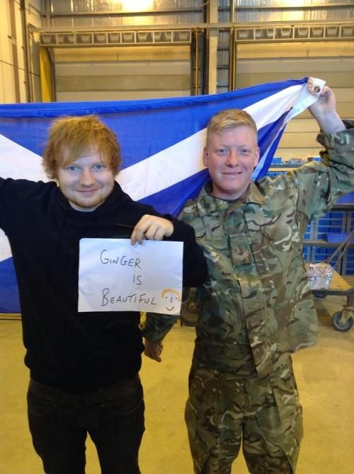 Ed went to Afghanistan. :) I don't think that people realize how amazing and perfect Ed is.