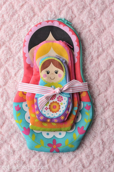 A New Sewing Pattern Nesting Dolls Zip Pouches