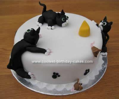 Cat Birthday Cake cakepinscom Backen Pinterest Birthday