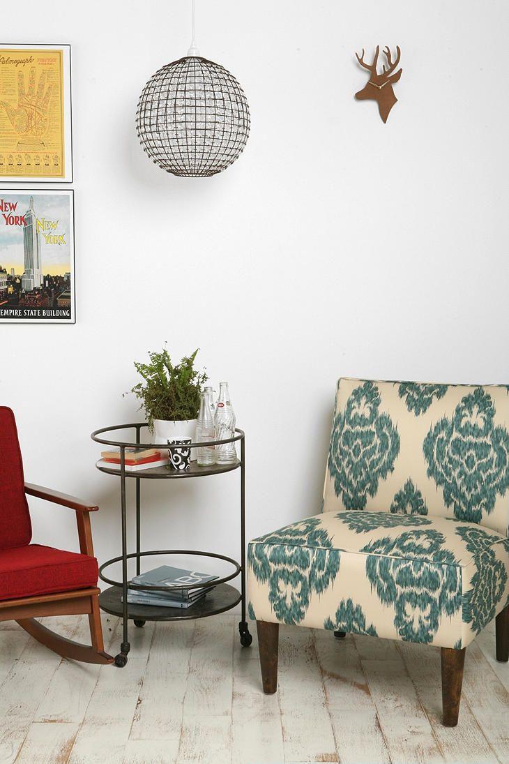 Ikat Slipper Chair: Love That Ikat! Good Colors U0026 Good Chair Shape!