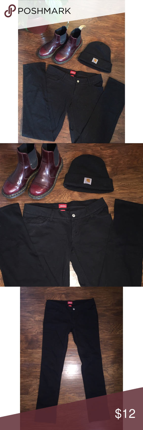 57317a574202 Size 11 Genuine Dickies black jeans 🖤 Size 11 juniors. Will fit size 7 and