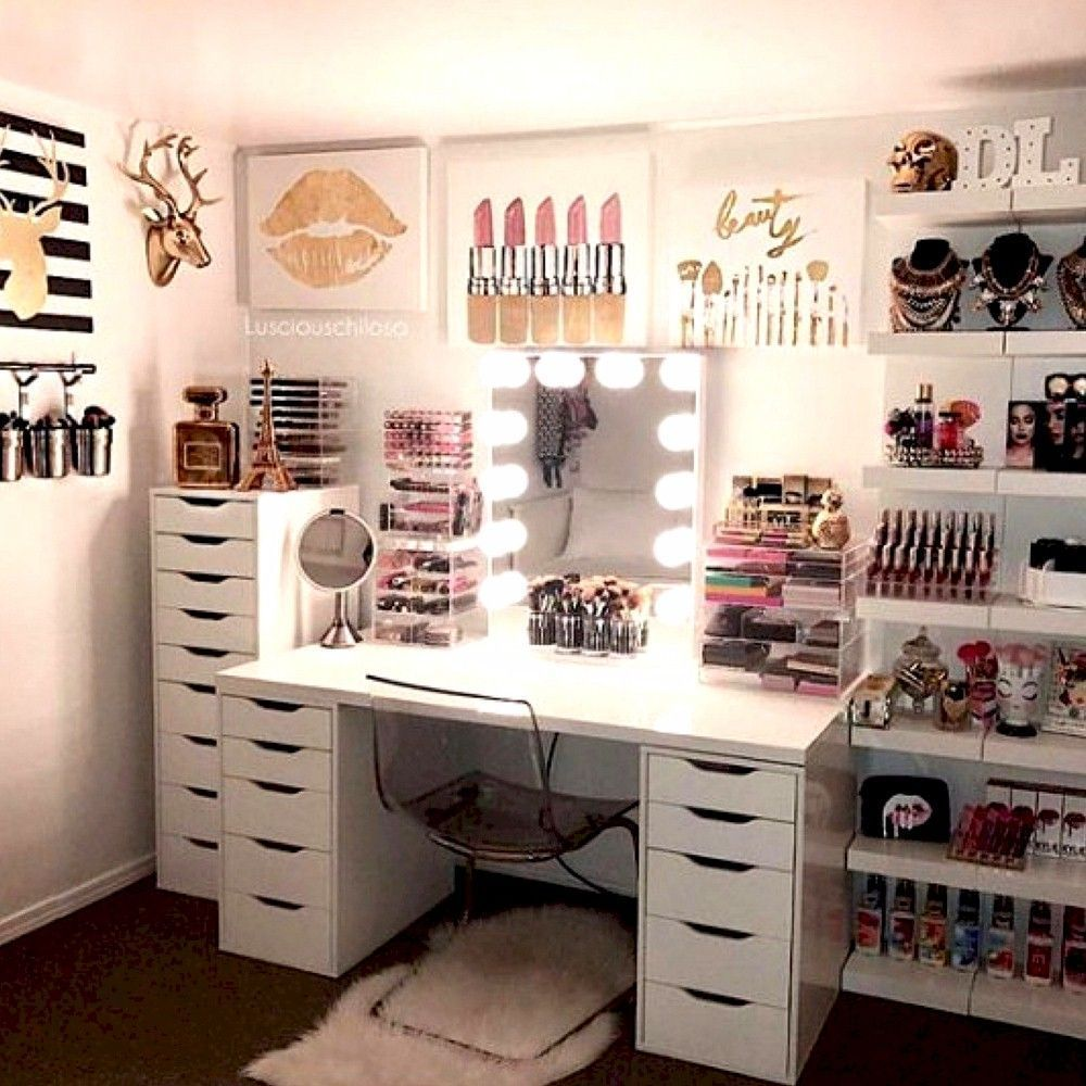 22+ DIY Simple Makeup Room Ideas, Organizer, Storage and