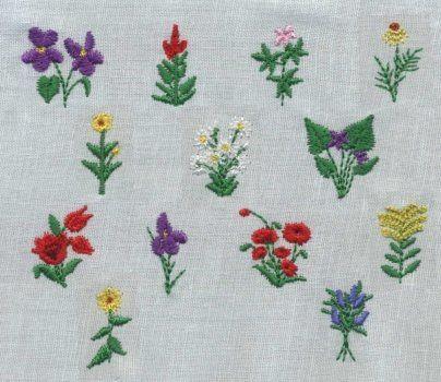34 Teeny Flowers 3 Mini Designs Embroidery Pinterest Flowers