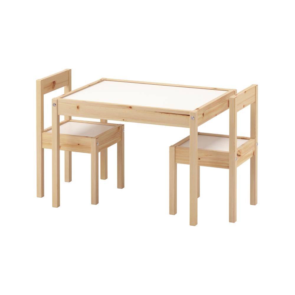 Ikea Latt White Pine Children S Table And 2 Chairs Ikea Toddler Table Toddler Table Toddler Table Chairs