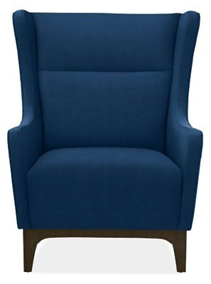 Marcel Chair & Ottoman in Vance Fabric - Recliners & Lounge Chairs - Living - Room & Board