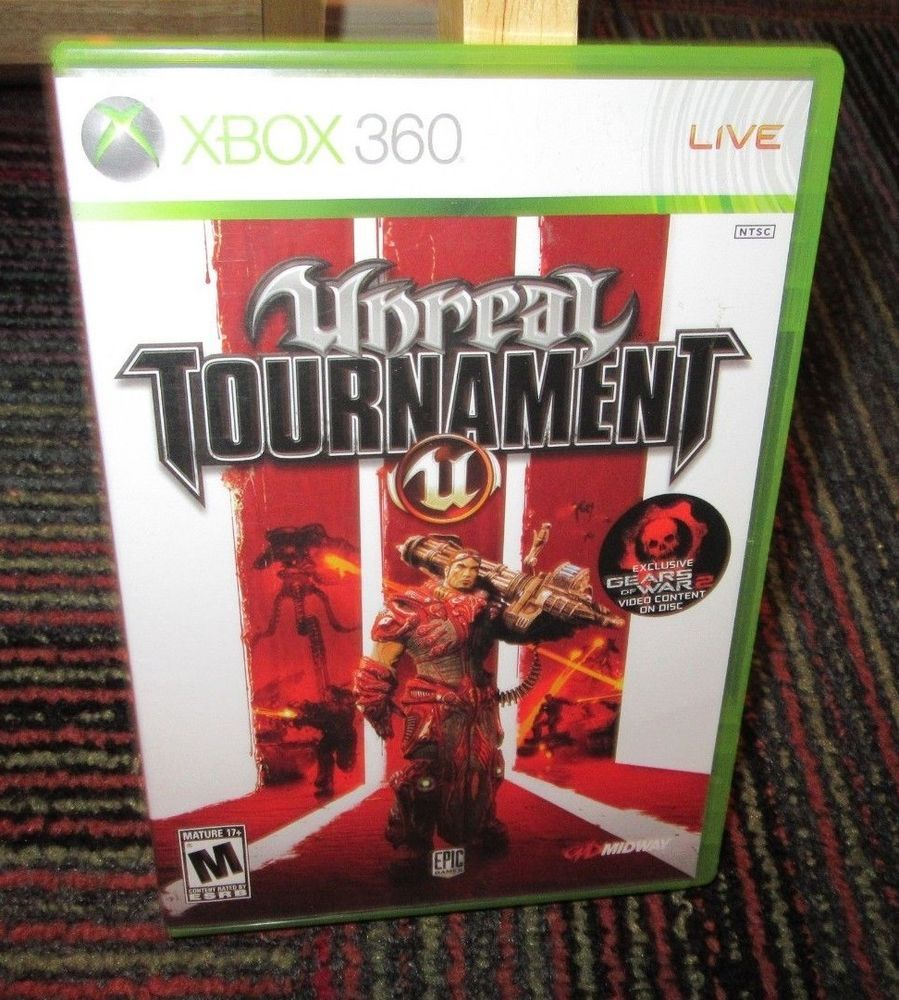 UNREAL TOURNAMENT III GAME F/ MICROSOFT XBOX 360, CASE, GAME & MANUAL,  MIDWAY