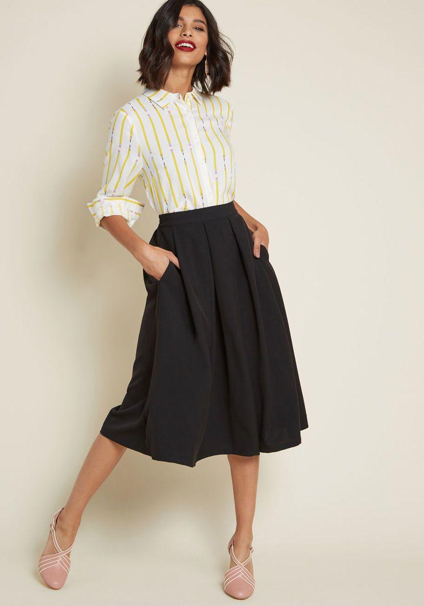 9d96d3efee Classic Majesty Midi Skirt in Black in 2019 | Sew My Wardrobe Inspo ...
