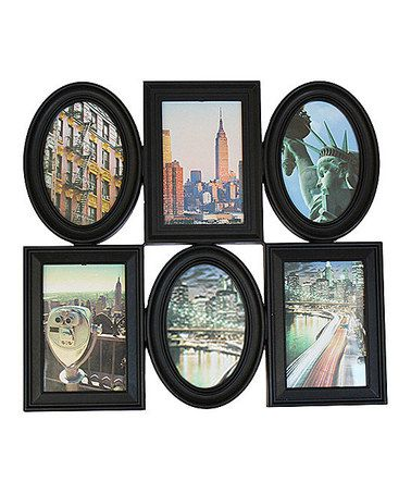 Another great find on #zulily! Black Six-Picture Oval & Rectangle Collage Frame #zulilyfinds