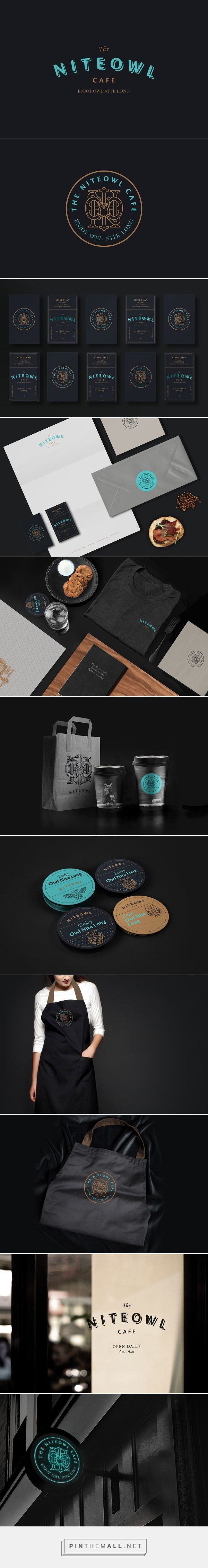 the niteowl cafe restaurant branding by ziyu ooi restaurant