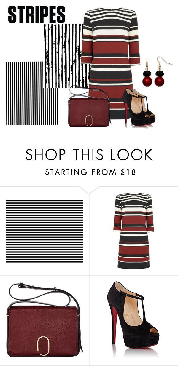 """Stripes"" by sjlew ❤ liked on Polyvore featuring Oasis, 3.1 Phillip Lim, Christian Louboutin and Mixit"