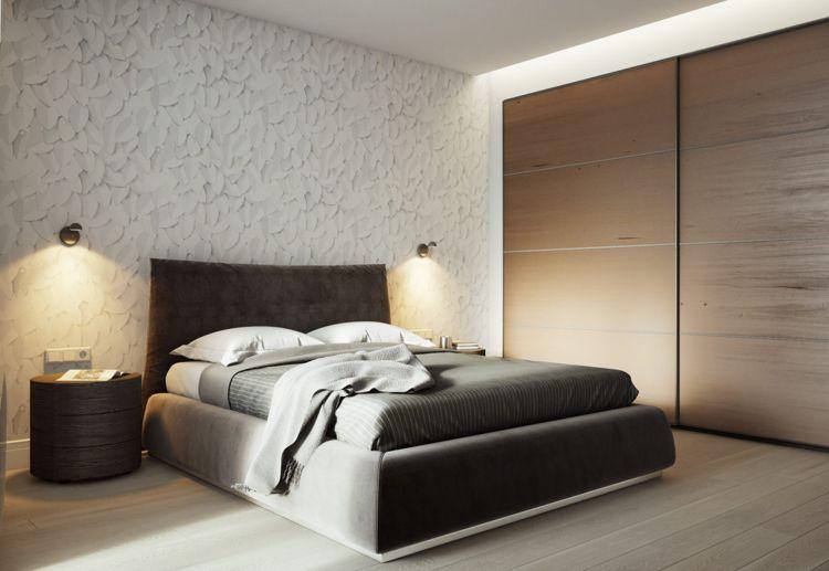 Schlafzimmer Naturholz ~ Weiss grau beige schlafzimmer holz einbaukleiderschrank bett #dream