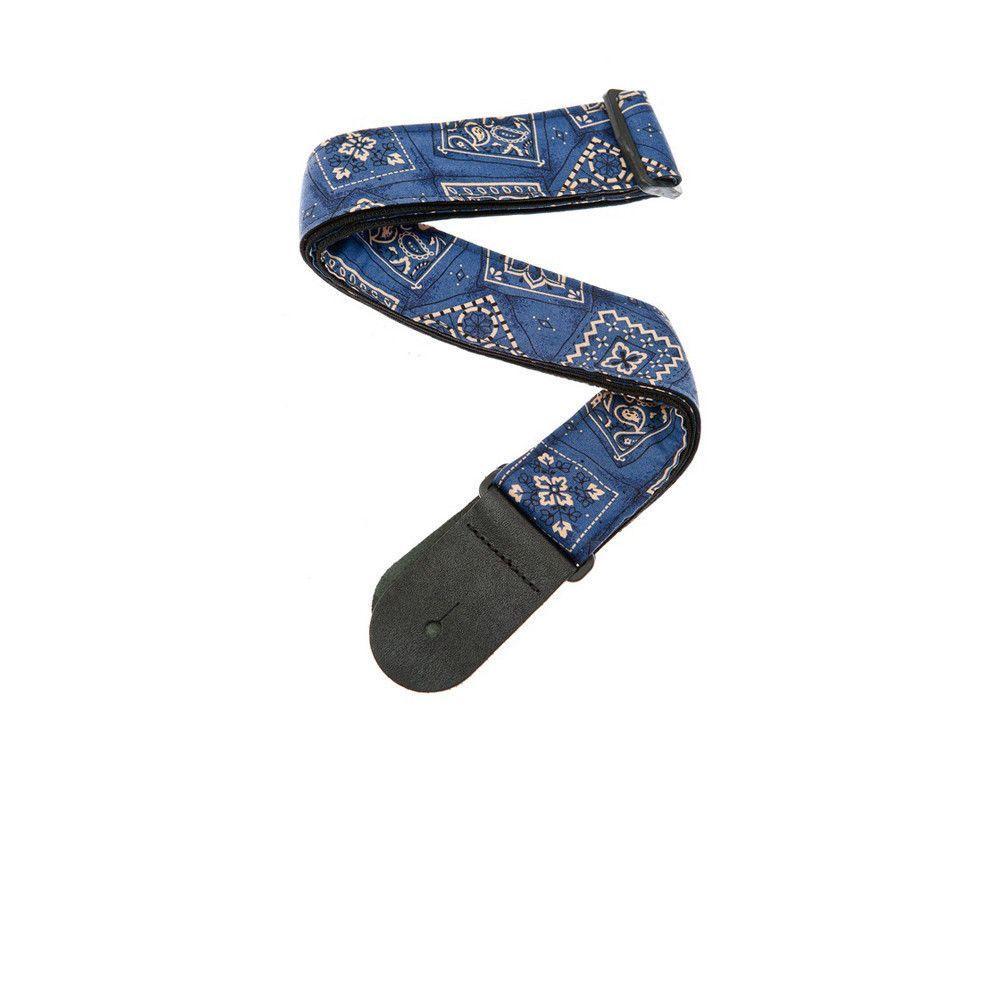 Planet waves woven guitar strap bandana blue bandanas and products