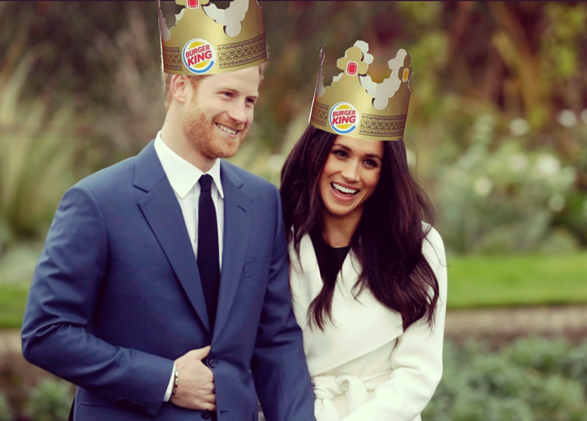 Prince Harry And His Betrothed Meghan Markle Have Inspired A Special At Burger King Ap Photo Illustration Ryan Smith Royal Wedding Royal Wedding