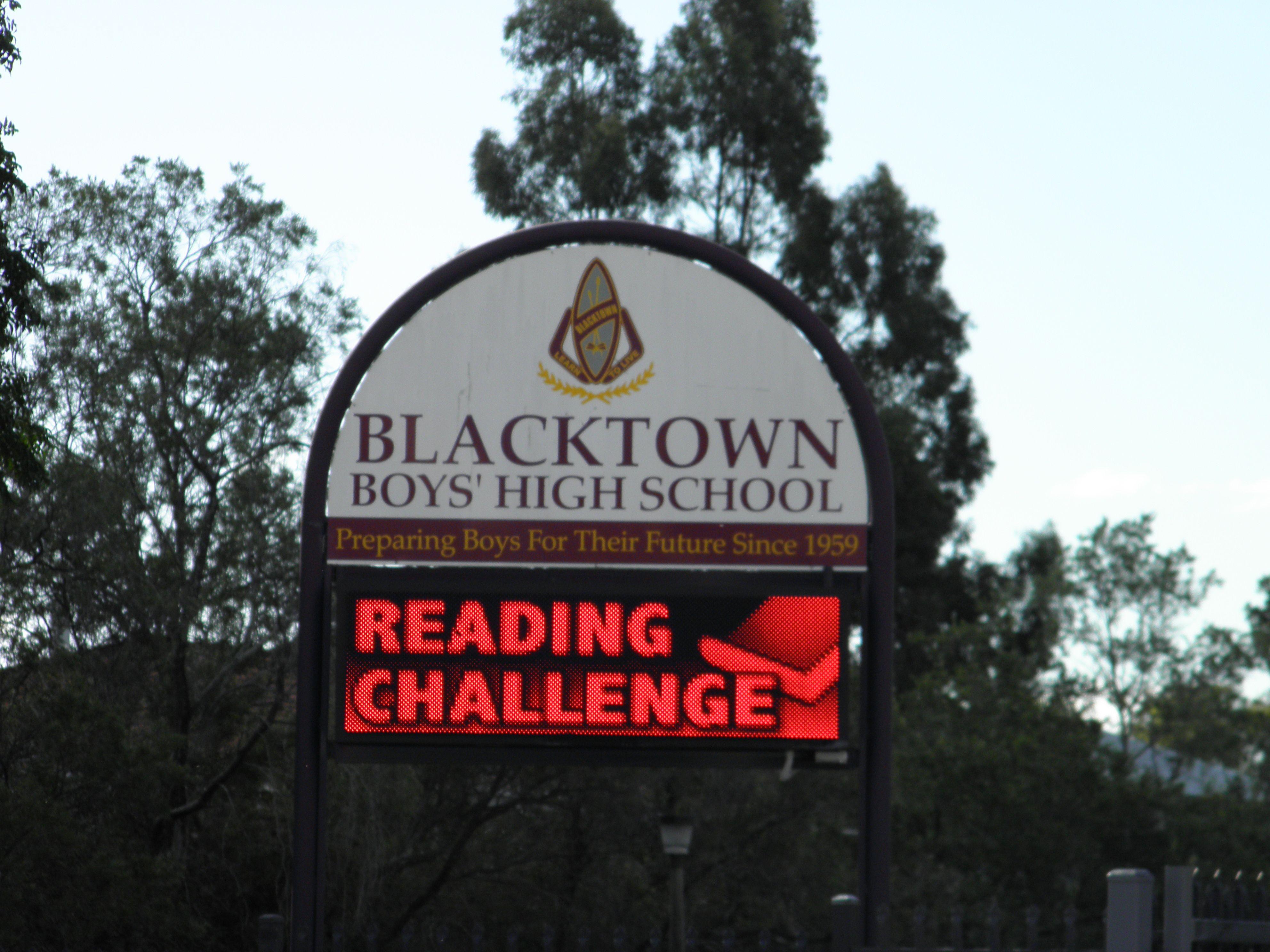 Blacktown Boys High School Led Sign School Signs Csi Corporatesignindustries Signage Graphic Design Identity Si Corporate Signs School Signs Led Signs