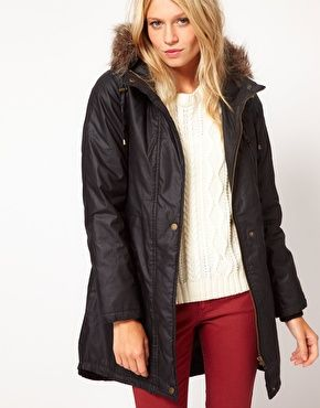 Oasis Waxed Quilted Parka