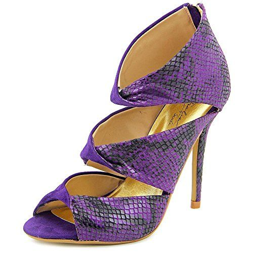 Thalia Sodi Women's Rosanny Open-Toe Canvas Purple Heels, Purple, Size 8.5 * This is an Amazon Associate's Pin. Detailed information can be found on Amazon website by clicking the image.